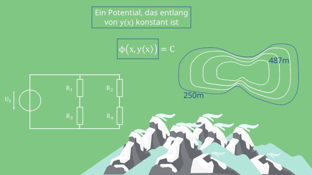 Exakte DGL, Satz von Schwarz, Potentialfunktion